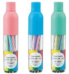 【內海產業】瓶裝12色彩色細筆組