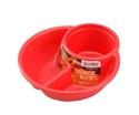 【INOMATA】BBQ 深型圓形餐盤(紅)