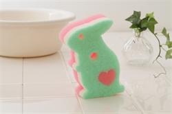 【SANBELM】風呂海綿刷-綠兔