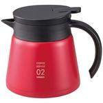 🌟【HARIO】真空保溫咖啡壺(紅600ml)