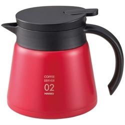 【HARIO】真空保溫咖啡壺(紅600ml)