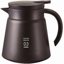 【HARIO】真空保溫咖啡壺(黑800ml)