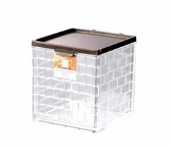 【INOMATA】廚房儲物罐 (棕)