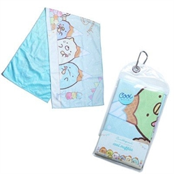 【SANTAN】角落生物冰淇淋涼感毛巾-藍.