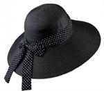 🌟【COOL】UV緞帶防曬帽-黑