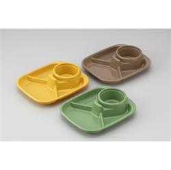 【INOMATA】BBQ三色組食物碟-方形