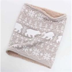 【COGIT】5WAY兒童圍脖-北極熊灰.