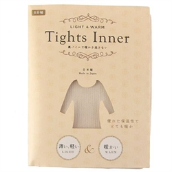👕【Tights Inner】裏起毛發熱衣-米L~LL