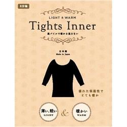 👕【Tights Inner】裏起毛發熱衣-黑L~LL.