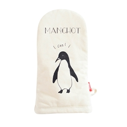 🌟【SANBELM】塗鴉設計隔熱手套-企鵝