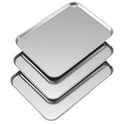【下村企販】不鏽鋼淺型備料盤 (3入)