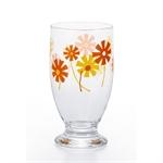 【ADERIA】昭和復古曲線杯 (黃橘花)