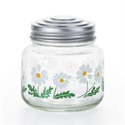 【ADERIA】昭和復古玻璃糖果罐 (小白花)