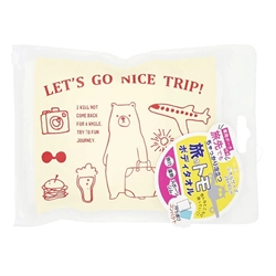 🌟【SANBELM】旅行專用浴巾袋-白色