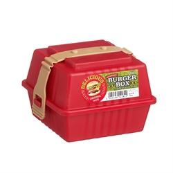 【INOMATA】野餐漢堡盒(紅)