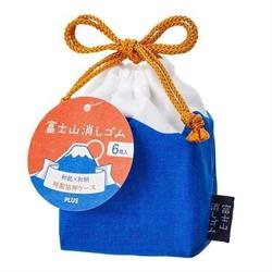 【PLUS】青赤 富士山橡皮擦限定組合.