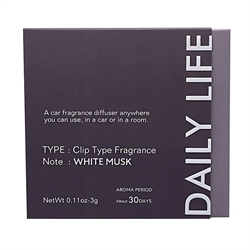 【Daily Life】香氛芳香夾 (白麝香)