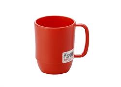 【INOMATA】微波爐專用湯杯(紅色)