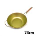 【HOREI】TIARA三層鈦鋁合金鍋-金24CM